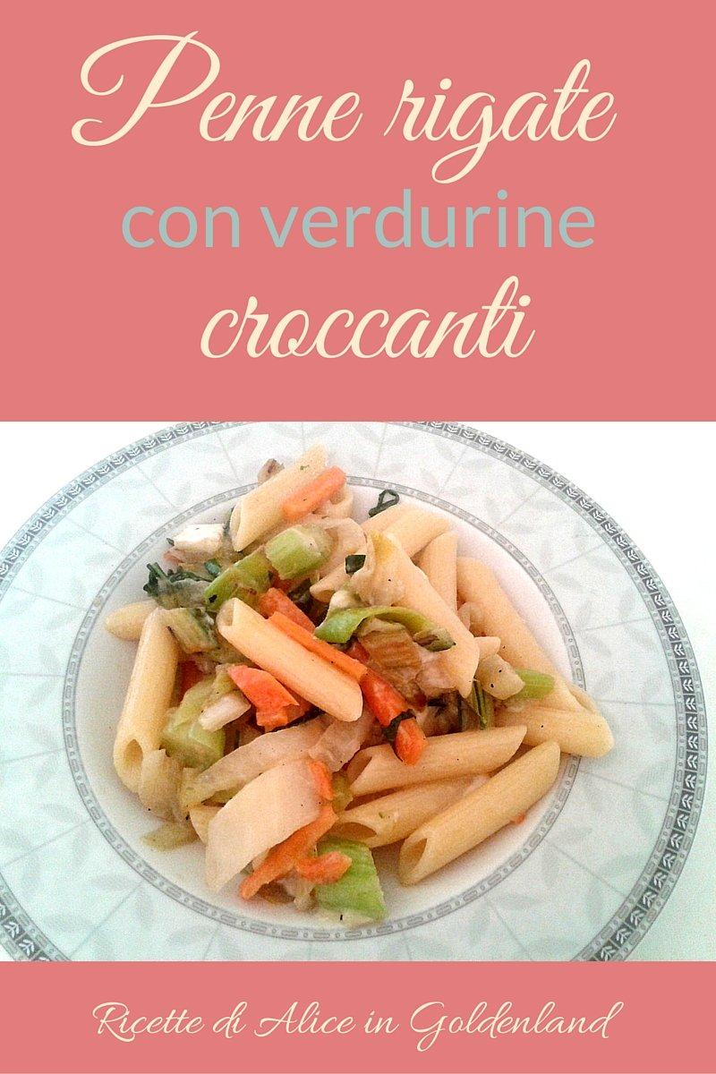 Penne alle verdurine croccanti e erbe aromatiche