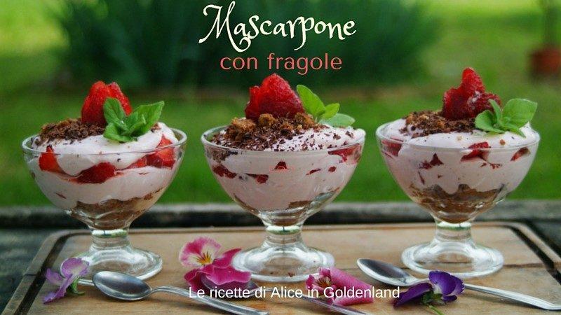 Mascarpone con fragole