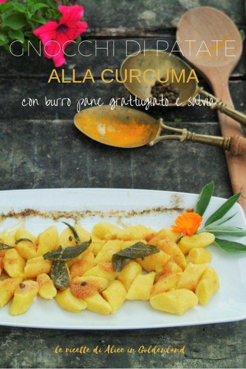 Gnocchi di patate alla curcuma con burro, pane grattugiato e salvia
