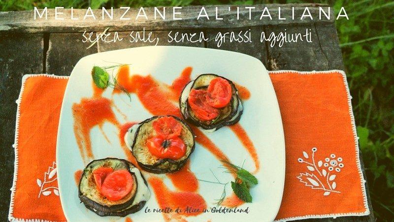 melanzane all'italiana, senza sale, senza grassi aggiunti