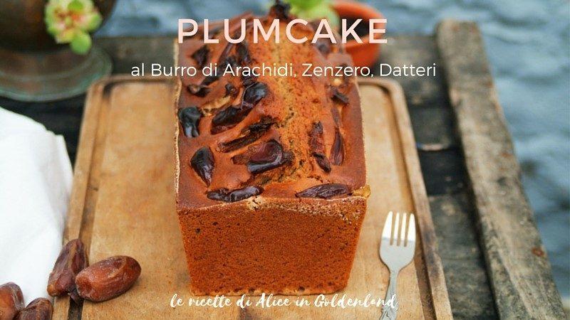 Plumcake al burro di arachidi, zenzero, datteri