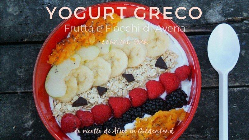Top Yogurt greco, frutta e fiocchi di avena-colazione sana - ALICE IN  QP95