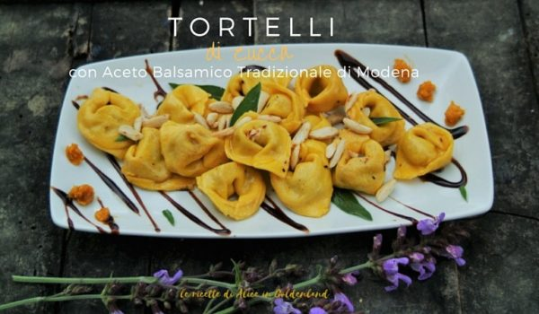 Tortelloni di zucca con Aceto Balsamico Tradizionale di Modena
